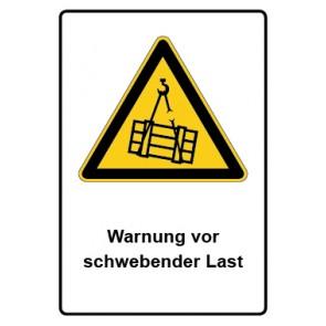 Warnzeichen mit Text Warnung vor schwebender Last · MAGNETSCHILD