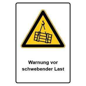 Kombi Aufkleber Warnung vor schwebender Last