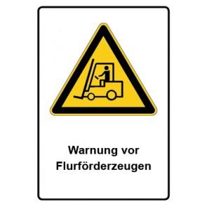 Warnzeichen mit Text Warnung vor Flurförderzeugen · MAGNETSCHILD