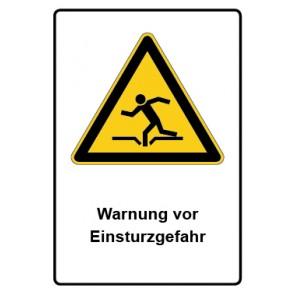 Warnzeichen mit Text Warnung vor Einsturzgefahr · MAGNETSCHILD