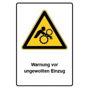 Warnzeichen mit Text Warnung vor ungewollten Einzug · MAGNETSCHILD