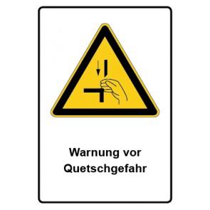 Warnzeichen mit Text Warnung vor Quetschgefahr · MAGNETSCHILD