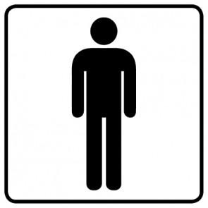 WC Toiletten Aufkleber | Herren · weiß