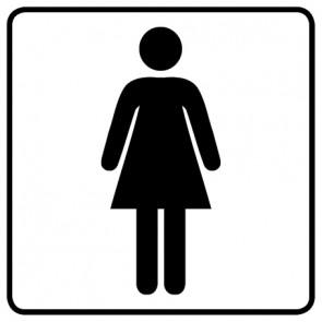 WC Toiletten Aufkleber | Damen · weiß