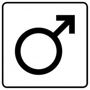 WC Toiletten Aufkleber | Symbol Mann · weiß
