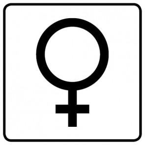 WC Toiletten Aufkleber | Symbol Frau · weiß