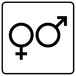 WC Toiletten Aufkleber | Symbol Herren · Damen · weiß