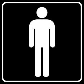 WC Toiletten Aufkleber | Herren · schwarz