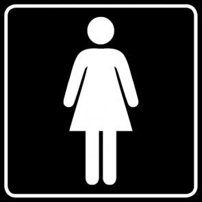 WC Toiletten Aufkleber | Damen · schwarz