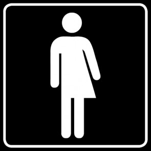 WC Toiletten Aufkleber | Transgender · schwarz