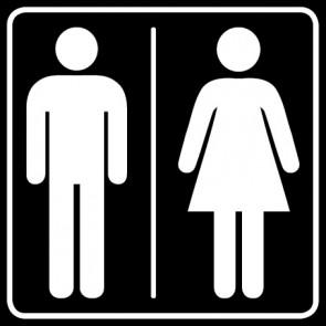 WC Toiletten Aufkleber | Herren · Damen · schwarz