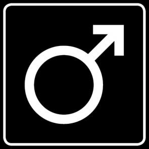 WC Toiletten Aufkleber | Symbol Mann · schwarz