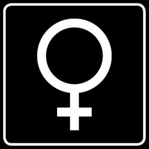 WC Toiletten Aufkleber | Symbol Frau · schwarz