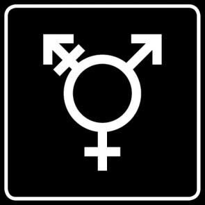 WC Toiletten Aufkleber | Symbol Transgender · schwarz