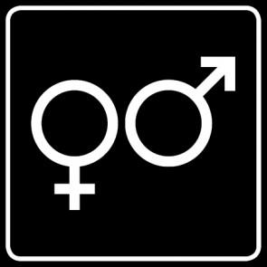 WC Toiletten Aufkleber | Symbol Herren · Damen · schwarz