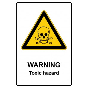 Warnzeichen Aufkleber | Warning · Toxic hazard