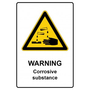 Warnzeichen Schild · Warnschild | Warning · Corrosive substance