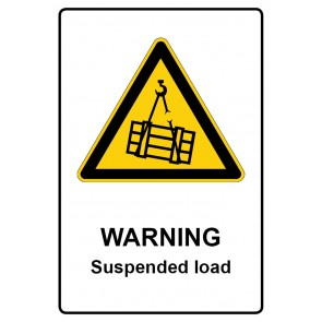 Warnzeichen Schild · Warnschild | Warning · Suspended load