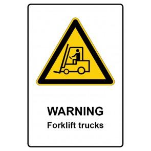 Warnzeichen Aufkleber | Warning · Forklift trucks