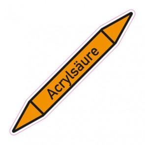 Aufkleber Rohrkennzeichnung · Rohrleitungskennzeichnung Acrylsäure