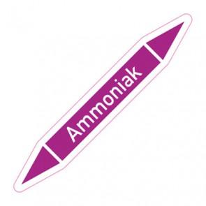 Aufkleber Rohrkennzeichnung · Rohrleitungskennzeichnung Ammoniak