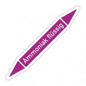 Aufkleber Rohrkennzeichnung · Rohrleitungskennzeichnung Ammoniak flüssig