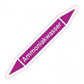 Aufkleber Rohrkennzeichnung · Rohrleitungskennzeichnung Ammoniakwasser