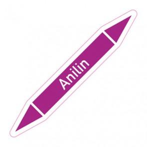 Aufkleber Rohrkennzeichnung · Rohrleitungskennzeichnung Anilin