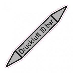 Aufkleber Rohrkennzeichnung · Rohrleitungskennzeichnung Druckluft 10 bar