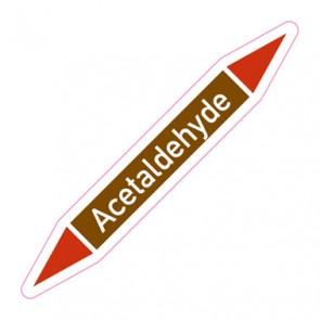 Aufkleber Rohrkennzeichnung · Rohrleitungskennzeichnung Acetaldehyde