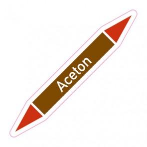 Aufkleber Rohrkennzeichnung · Rohrleitungskennzeichnung Aceton