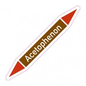 Aufkleber Rohrkennzeichnung · Rohrleitungskennzeichnung Acetophenon
