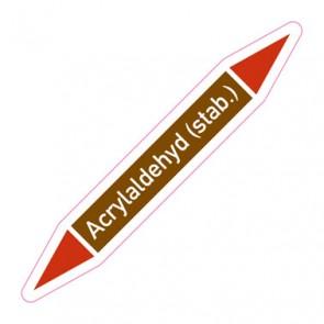 Aufkleber Rohrkennzeichnung · Rohrleitungskennzeichnung Acrylaldehyd (stab.)