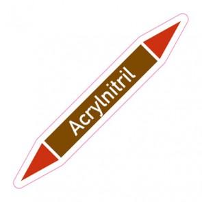 Aufkleber Rohrkennzeichnung · Rohrleitungskennzeichnung Acrylnitril