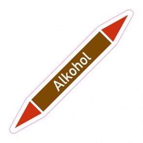 Aufkleber Rohrkennzeichnung · Rohrleitungskennzeichnung Alkohol
