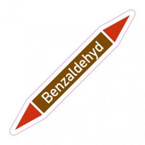 Aufkleber Rohrkennzeichnung · Rohrleitungskennzeichnung Benzaldehyd