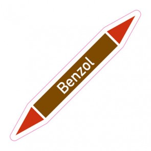Aufkleber Rohrkennzeichnung · Rohrleitungskennzeichnung Benzol