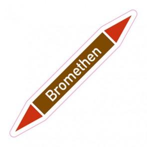 Aufkleber Rohrkennzeichnung · Rohrleitungskennzeichnung Bromethen