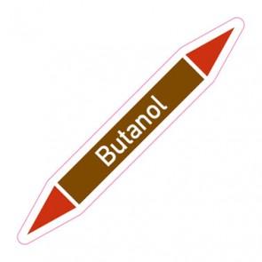 Aufkleber Rohrkennzeichnung · Rohrleitungskennzeichnung Butanol