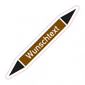 Aufkleber Rohrkennzeichnung · Rohrleitungskennzeichnung Wunschtext