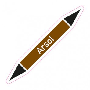 Aufkleber Rohrkennzeichnung · Rohrleitungskennzeichnung Arsol
