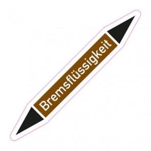 Aufkleber Rohrkennzeichnung · Rohrleitungskennzeichnung Bremsflüssigkeit