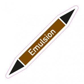 Aufkleber Rohrkennzeichnung · Rohrleitungskennzeichnung Emulsion