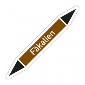 Aufkleber Rohrkennzeichnung · Rohrleitungskennzeichnung Fäkalien