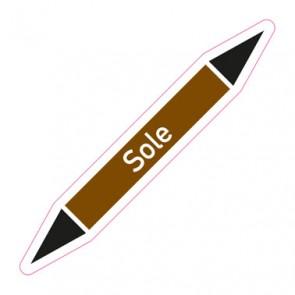 Aufkleber Rohrkennzeichnung · Rohrleitungskennzeichnung Sole