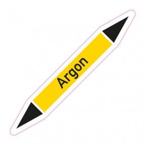 Aufkleber Rohrkennzeichnung · Rohrleitungskennzeichnung Argon