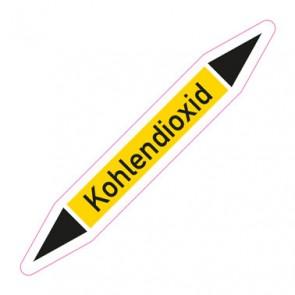 Aufkleber Rohrkennzeichnung · Rohrleitungskennzeichnung Kohlendioxid