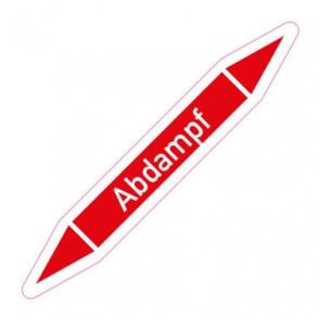 Aufkleber Rohrkennzeichnung · Rohrleitungskennzeichnung Abdampf