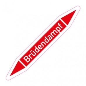 Aufkleber Rohrkennzeichnung · Rohrleitungskennzeichnung Brüdendampf