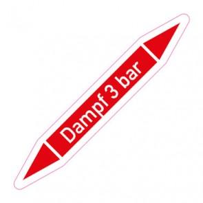 Aufkleber Rohrkennzeichnung · Rohrleitungskennzeichnung Dampf 3 bar